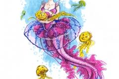 MerMay2017 Day 02 Jellyfish Mermaid