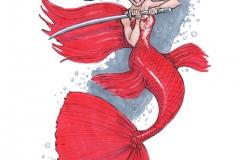 MerMay2017 Day 08 Siamese Fighting Fish Mermaid