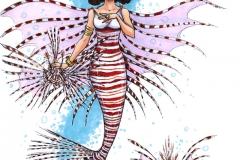 MerMay2017 Day 09 Lion Fish Mermaid Queen