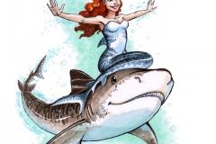 MerMay2017 Day13 Tiger Shark Mermaid