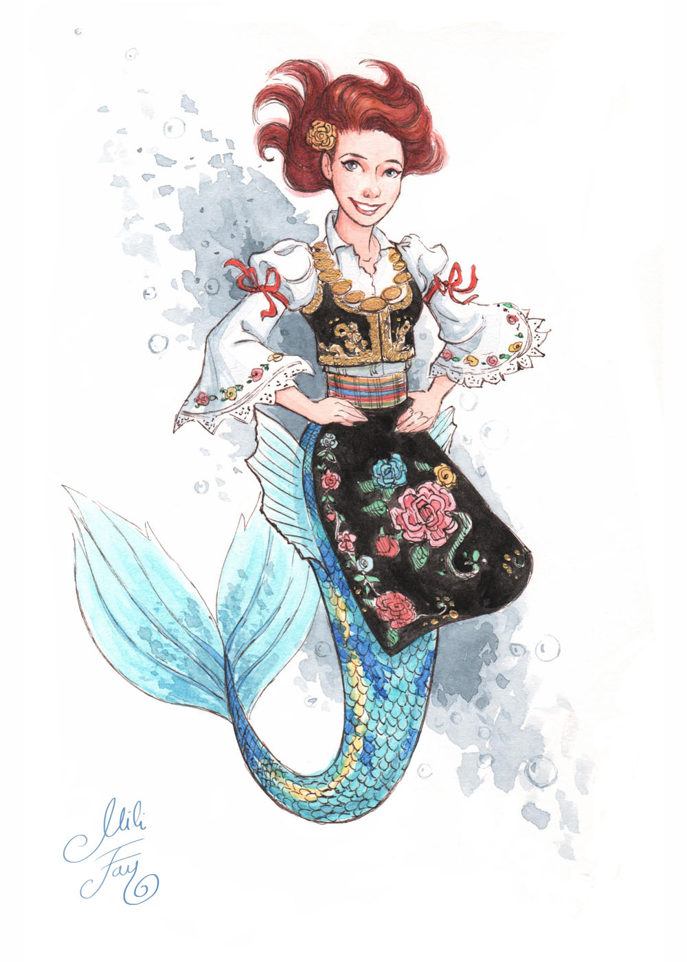 MerMay2019 -- Day 1: Serbian Mermaid