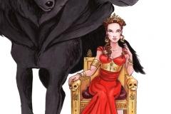 Persephone/Proserpina and Cerberus