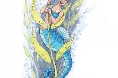 MerMay2017 Day 03 Seahorse Mermaid