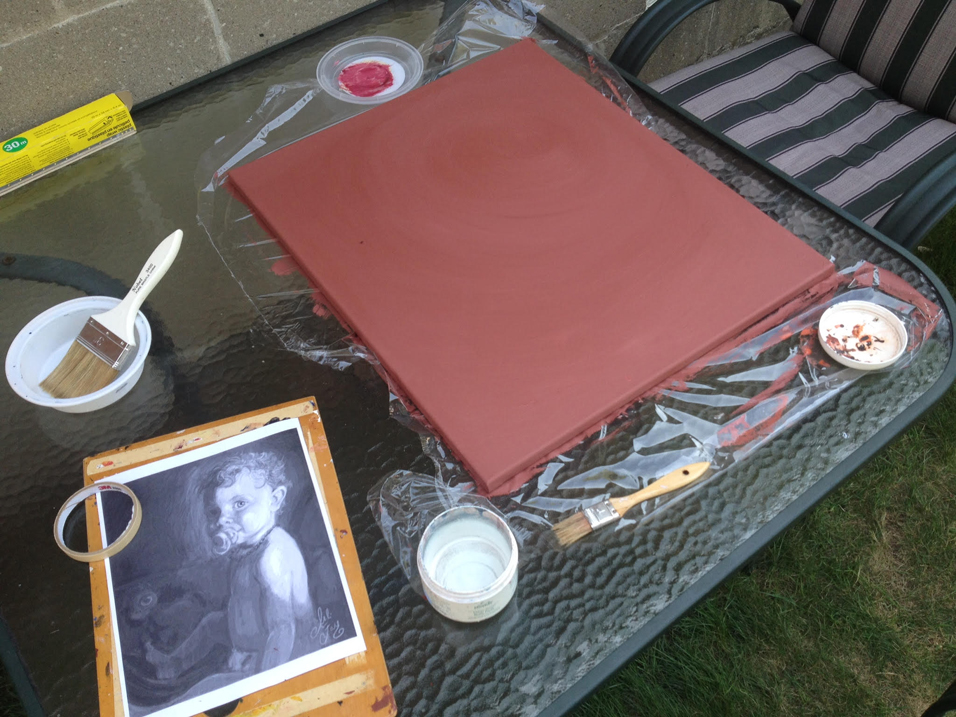Canvas Preparation--Applying Gesso