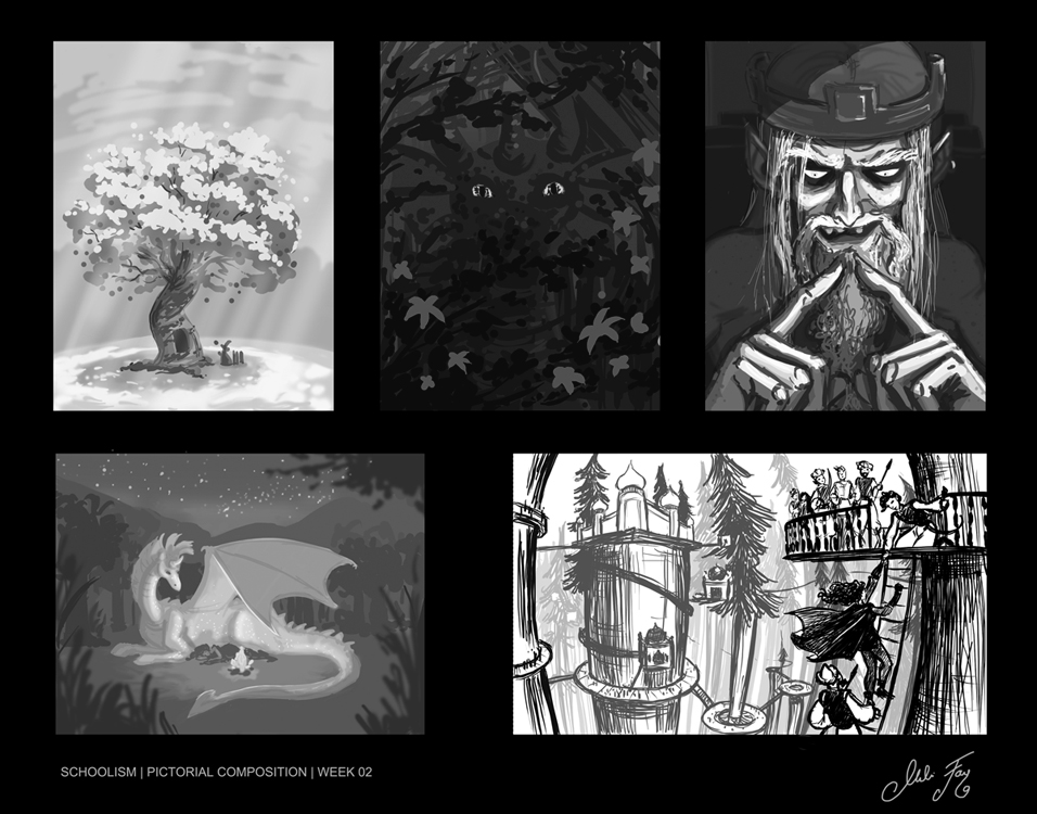 Schoolism Pictorial Composition Week 02 Assignment