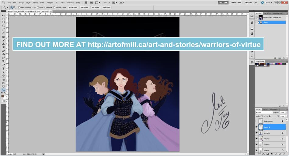 Designing Warriors of Virtue Cover Art Part 10