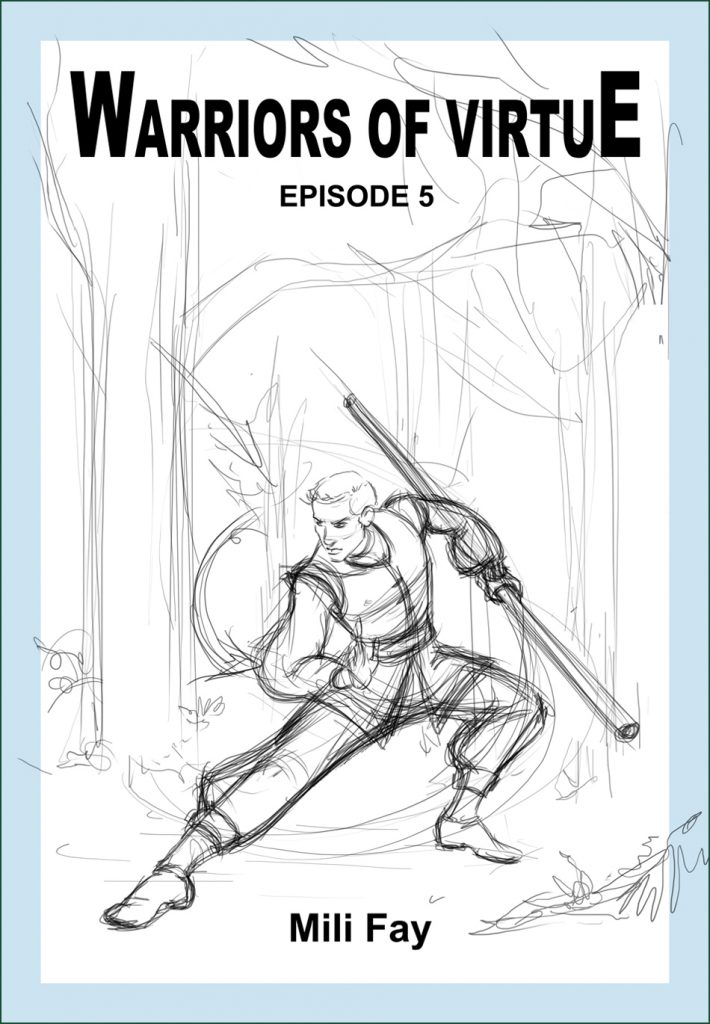 Warriors of Virtue Episode 5 Rough Cover featuring Srdjan.