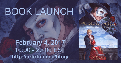 The Phantom of the Opera Inktober 2016 Sketchbook Launch Party: Scheduled Events