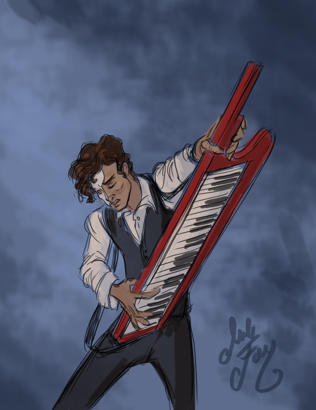 Phantom jammin' with a Keytar.