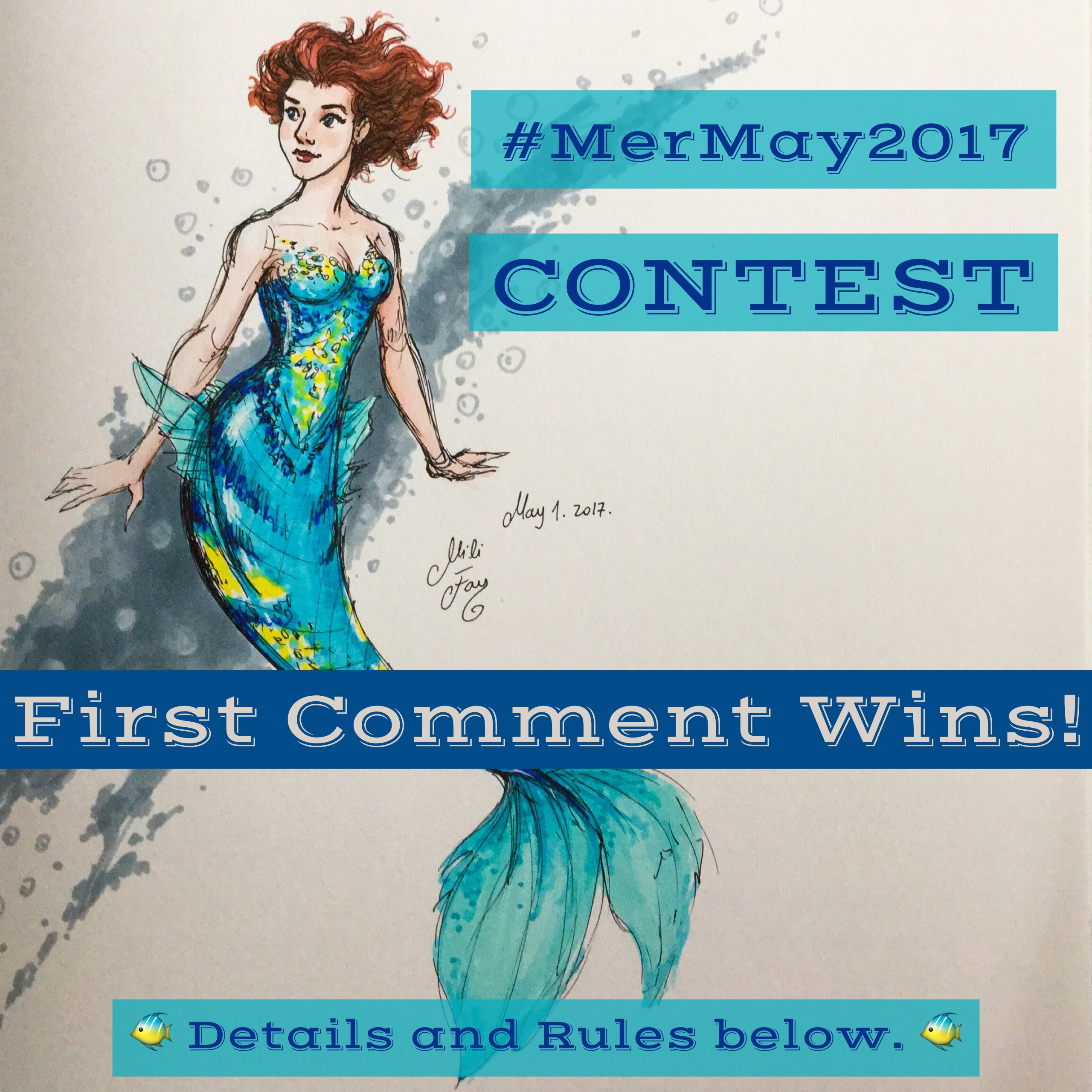 MerMay 2017: Contest and Mili Fay Mermaid!