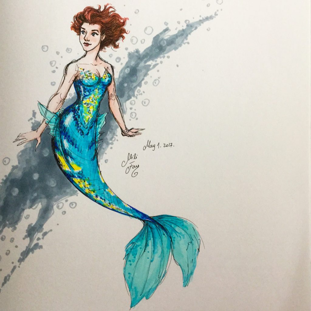 Mili Fay as a Mermaid.