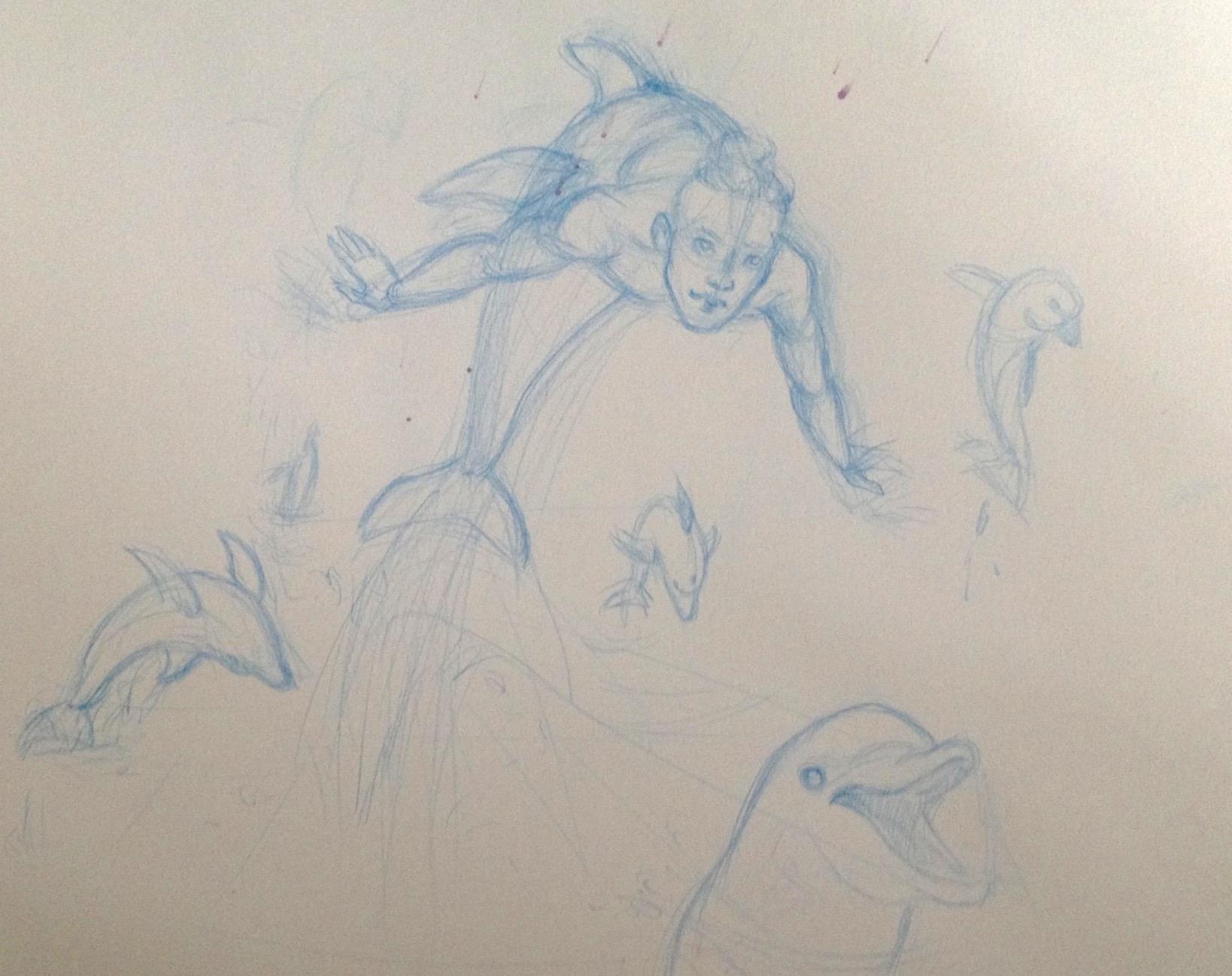 MerMay 2017 Day 30 rough sketch.