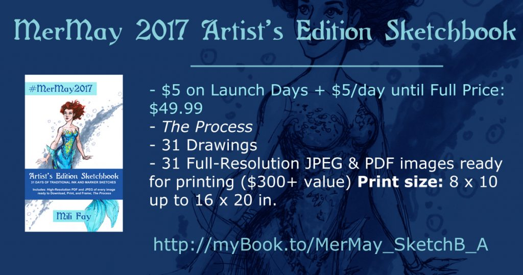 MerMay 2017 Artist's Edition Sketchbook Features