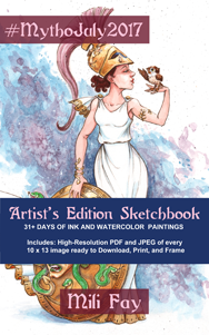 MythoJuly2017 Sketchbook Artist's Edition Cover Art