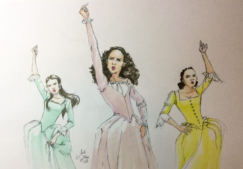 Schuyler Sisters from Hamilton Colored