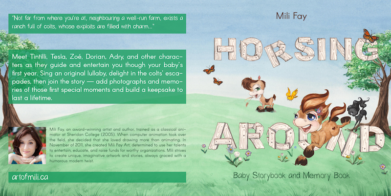 Horsing Around Baby Storybook and Memory Book Cover