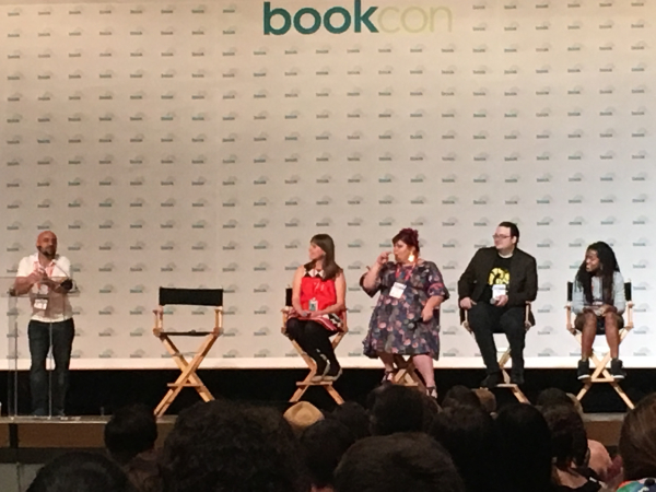 Magic and Power Fantsy Panel at BookCon, Javits Centre, NY 2018.