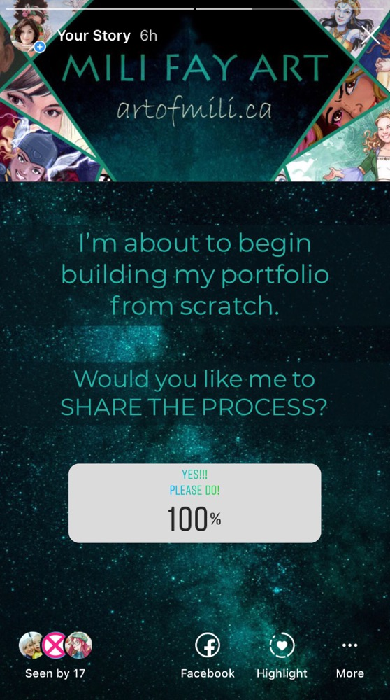How to create an artist's portfolio? — Part 1