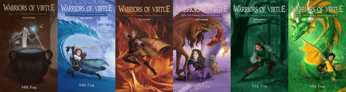 Warriors of Virtue Epic YA Fantasy Series Limited Kindle Edition Cover Art