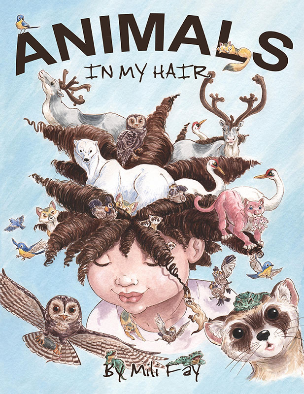 Mili Fay's Animals in My Hair Print Cover.