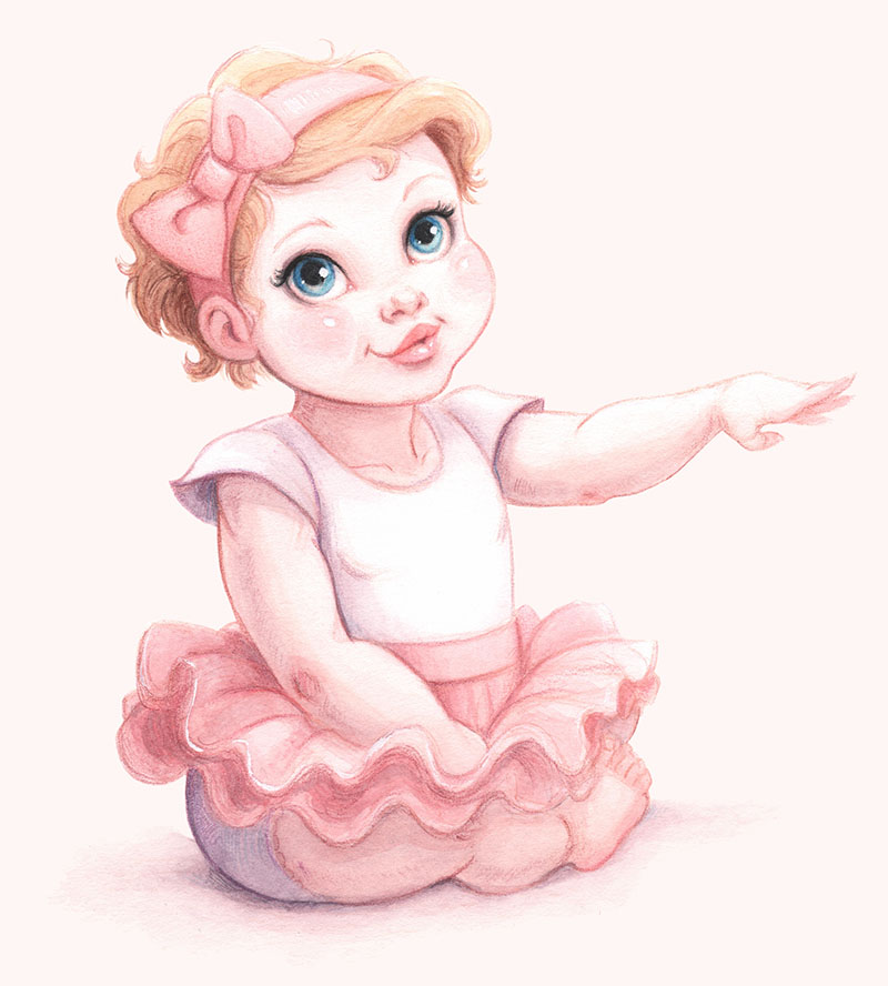 Ellen as a 1-year-old ballerina.