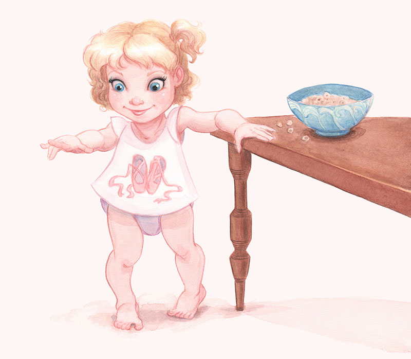 Ellen as a 2-year-old ballerina.