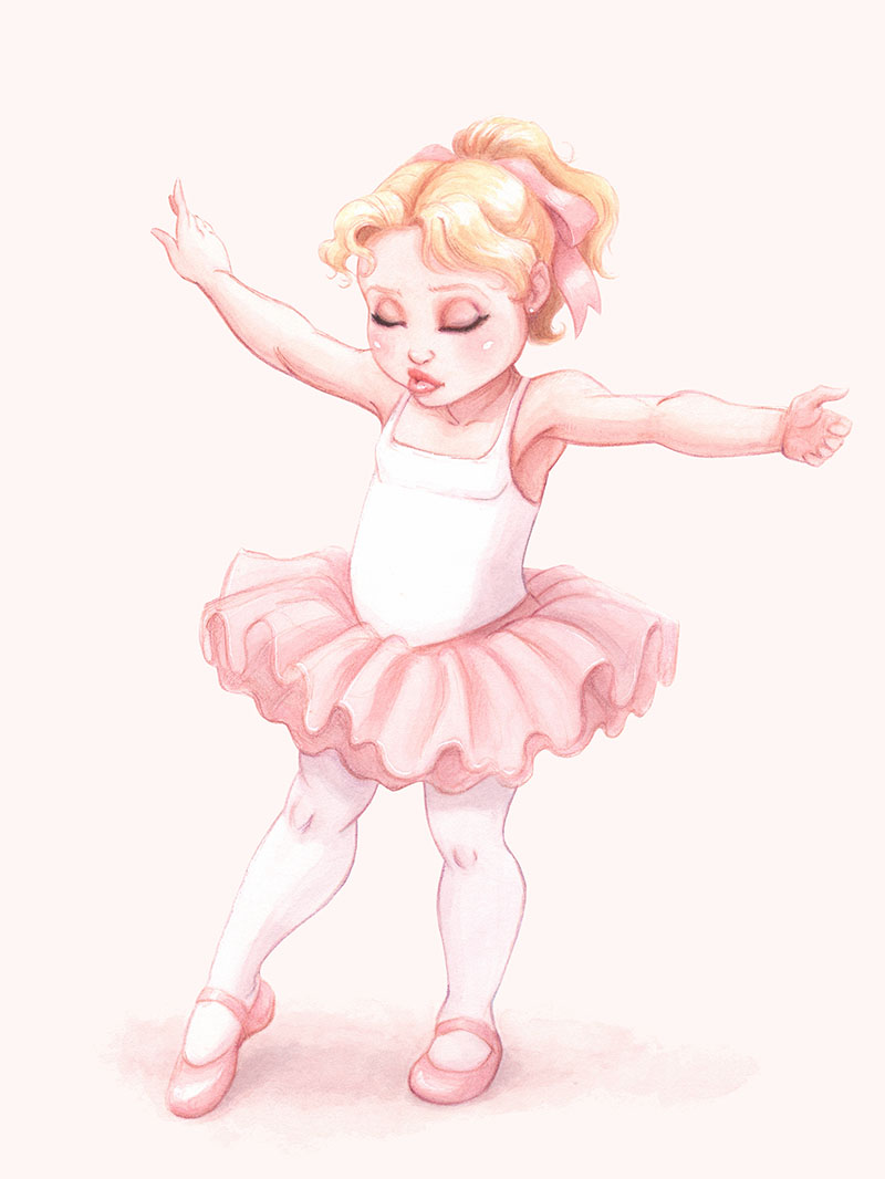 Ellen as a 4-year old ballerina.
