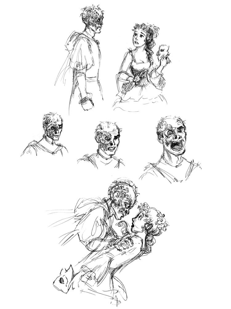 Erik is furious! Phantom of the Opera Sketches