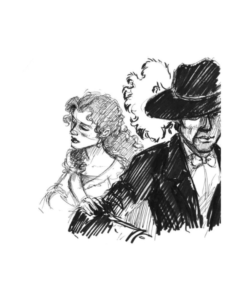 Phantom of the Opera Sketches: Christine and Phantom