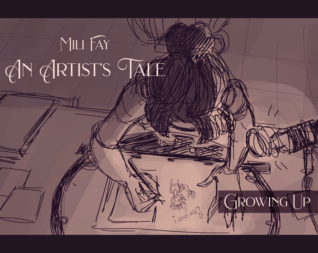 Mili Fay: An Artists Tale — Growing Up Storyboard Cover