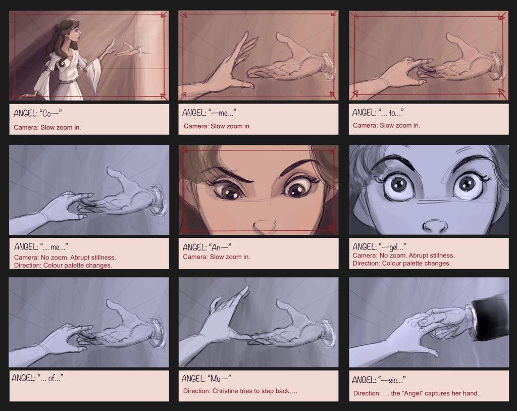 Mili Fay's The Phantom of the Opera — The Mirror — Storyboard Page 14