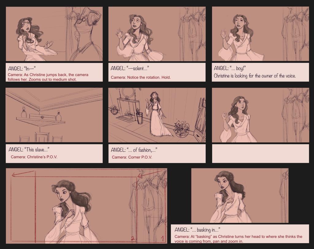 Mili Fay's The Phantom of the Opera — The Mirror — Storyboard Page 06