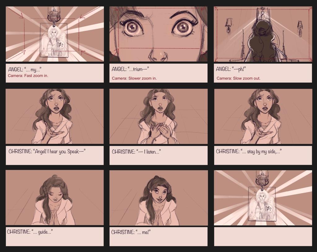 Mili Fay's The Phantom of the Opera — The Mirror — Storyboard Page 08