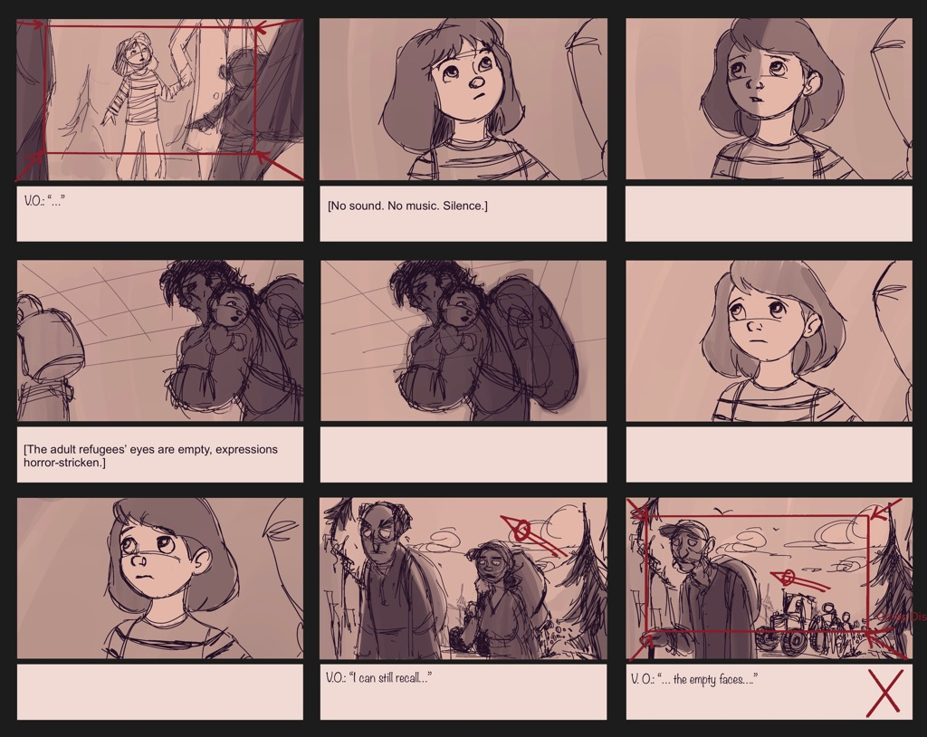 Mili Fay: An Artists Tale — Childhood Storyboard — Page 03
