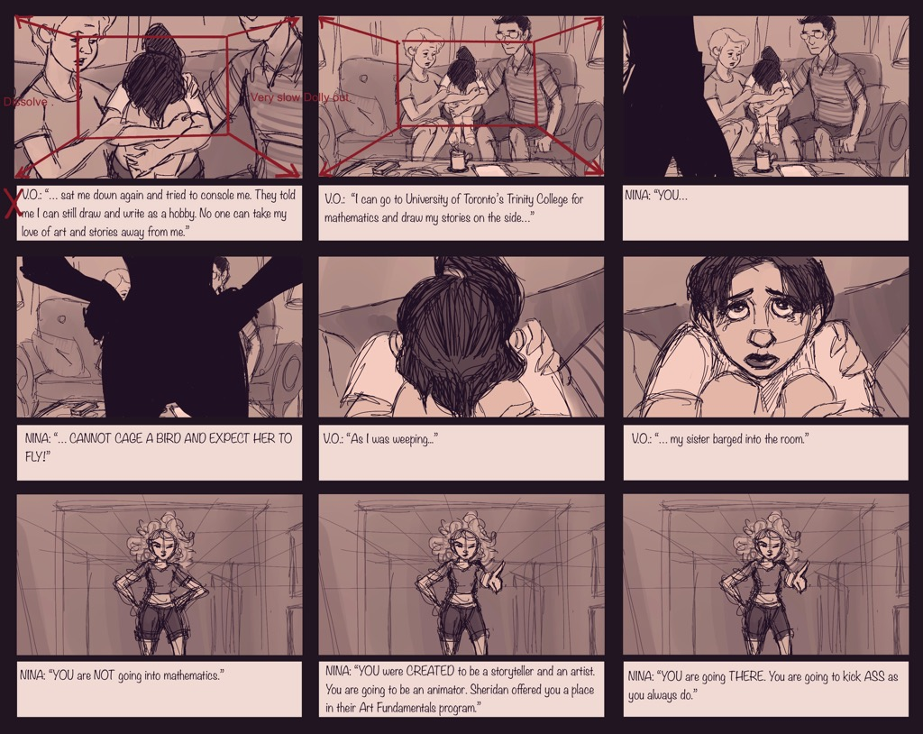 Mili Fay: An Artists Tale — Growing Up Storyboard — Page 07