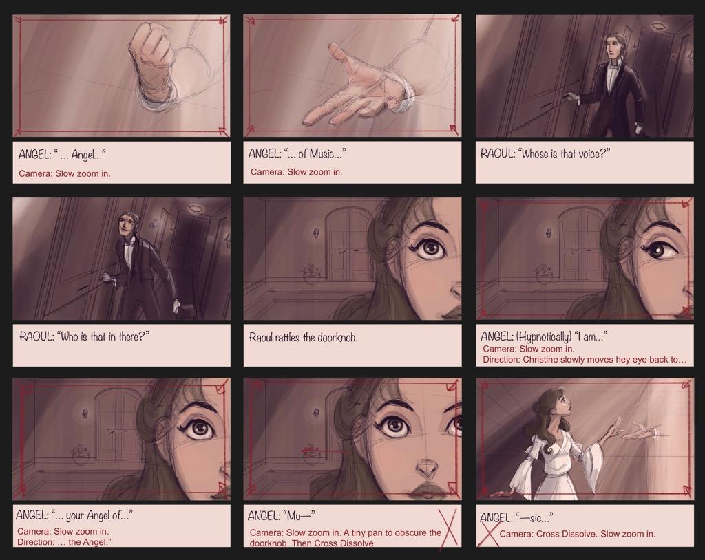 Mili Fay's The Phantom of the Opera — The Mirror — Storyboard Page 13
