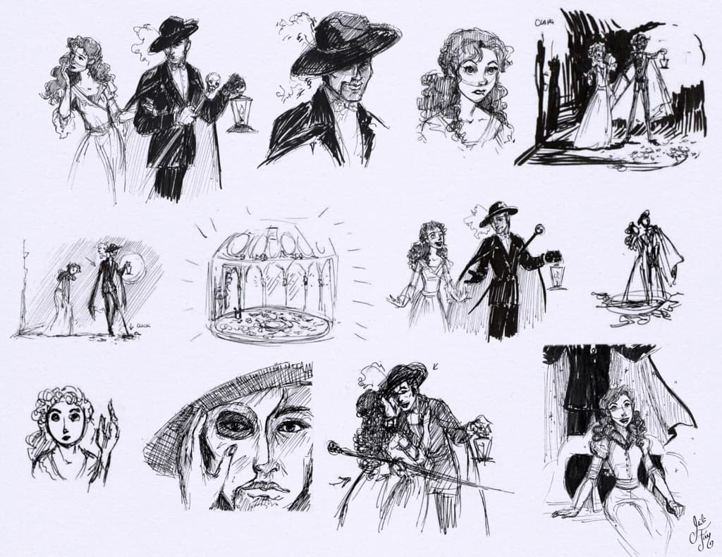 Mili Fay: Phantom of the Opera song moments. Phantom takes her to a secret Sun King's room, where they plunge towards the underground lake.