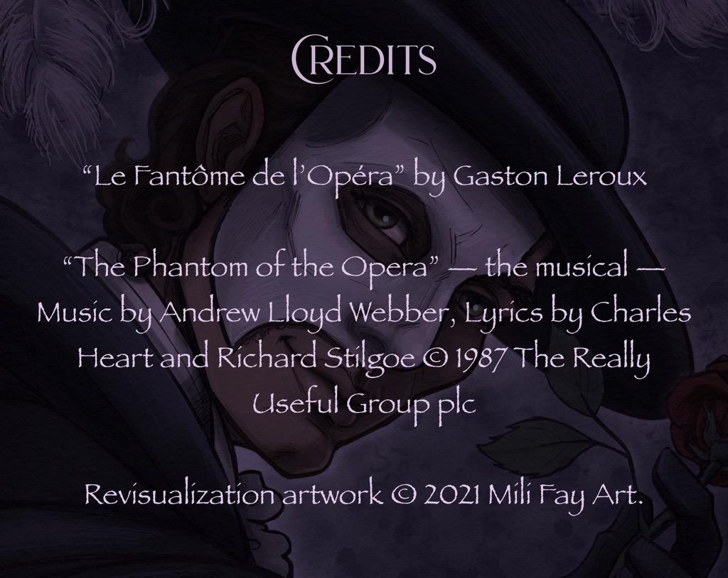 Mili Fay's The Phantom of the Opera — The Mirror — Credits Page
