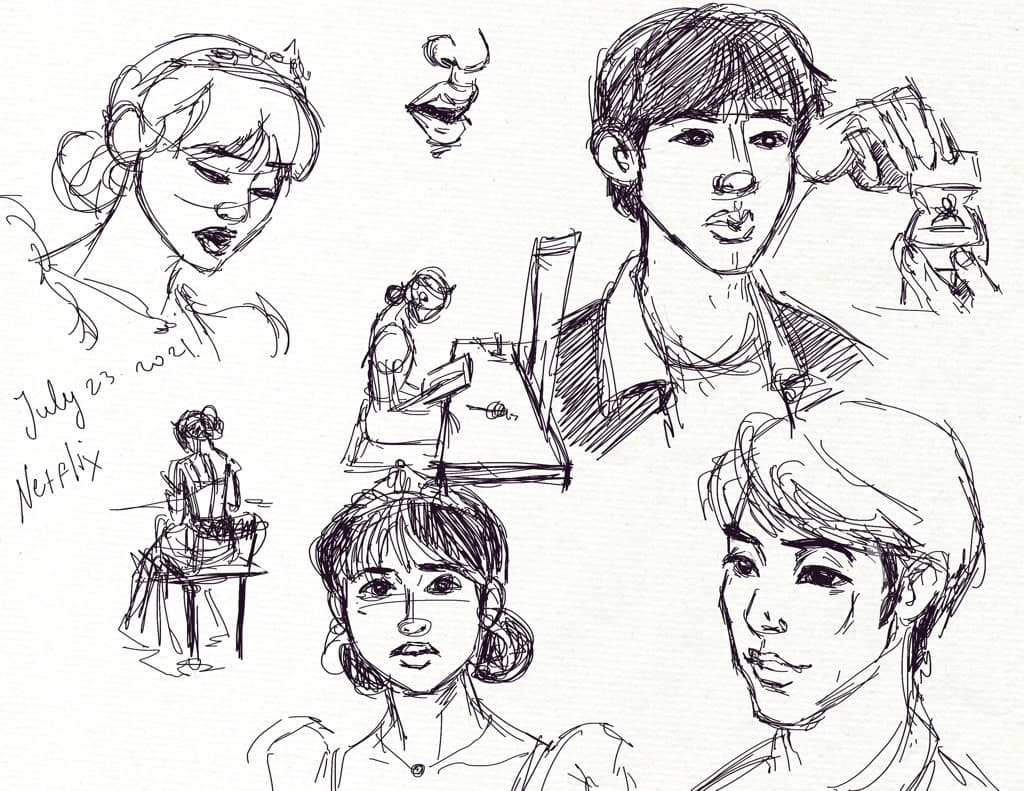 """Mili Fay's ketches from """"Use For My Talent"""" on Netflix."""