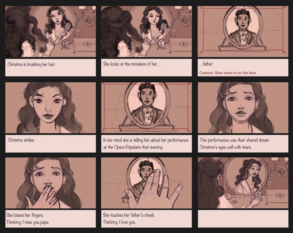 Mili Fay's The Phantom of the Opera — The Mirror — Storyboard Page 01