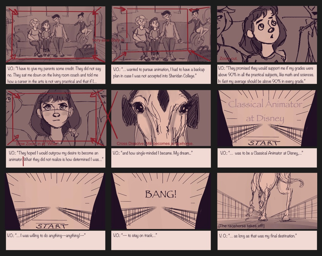 Mili Fay: An Artists Tale — Growing Up Storyboard — Page 01