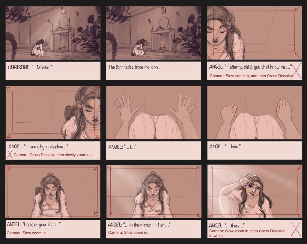 Mili Fay's The Phantom of the Opera — The Mirror — Storyboard Page 10