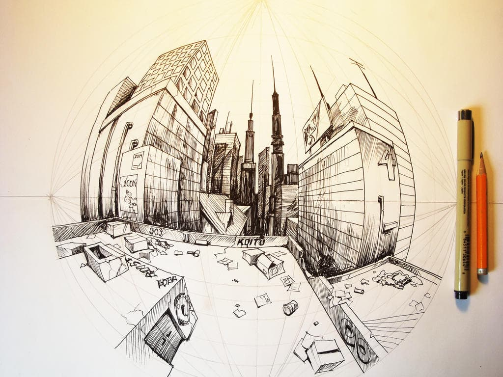 An example of 5-point perspective by Mateus Boga on Deviant Art.