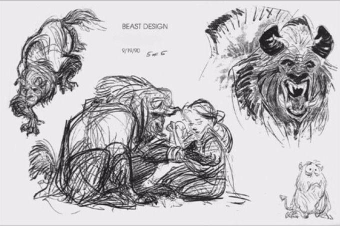 Glen Keane's drawings of The Beast.