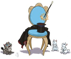 Cat Chair Magic And Rabbits