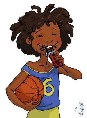 Kamel Eating Chocolate